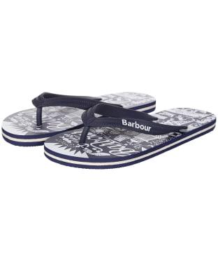 Women's Barbour Seaside Beach Sandals - Navy