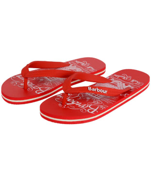 Women's Barbour Beach Sandals - Red