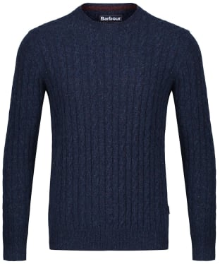 Men's Barbour Essential Cable Crew Neck Sweater - Indigo