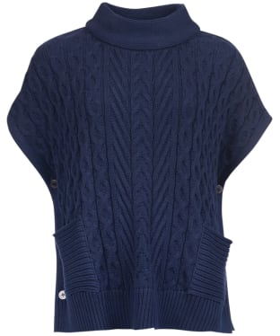 Women's Barbour Blanchland Knit Cape - Navy