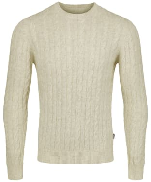 Men's Barbour Sanda Crew Knit - Ecru