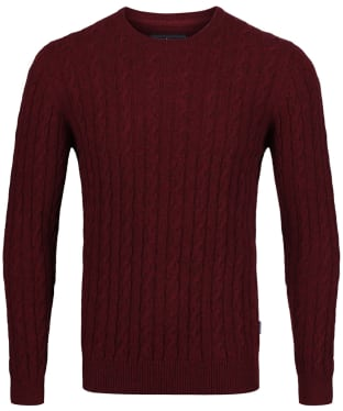 Men's Barbour Sanda Crew Knit - Merlot