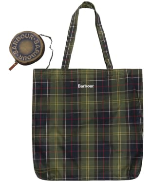 Barbour Travel Stud Tote Bag - Classic Tartan