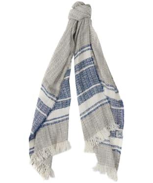 Women's Barbour Block Stripe Wrap - Grey / Blue