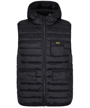 Men's Barbour International Ousten Hooded Gilet - Black