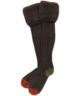 Men's Pennine Ambassador Shooting Socks - Mocha