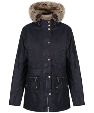 Women's Barbour Kelsall Waxed Jacket - Royal Navy