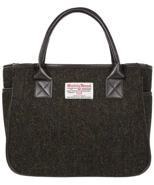 Women's Heather Fashions Amy Harris Tweed Box Tote Bag - Brown Barleycorn