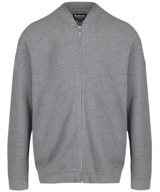 Men's Barbour International Grip Zip Thru Sweater Jacket - Mid Grey Marl