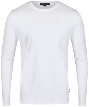 Men's Aquascutum Southport Club Check Tee - White