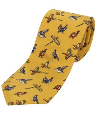 Men's Soprano Country Birds Tie - Mustard