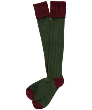 Men's Pennine Pembroke Shooting Socks - Port