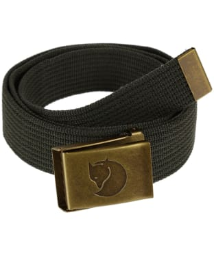 Men's Fjallraven Canvas Brass Belt 4cm - Mountain Grey