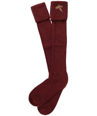 Men's Pennine Stalker Shooting Socks - Burgundy