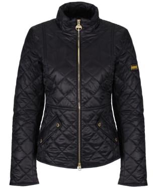 Women's Barbour International Delaware Quilted Jacket - Black