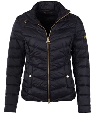 Women's Barbour International Aubern Quilted Jacket - Black