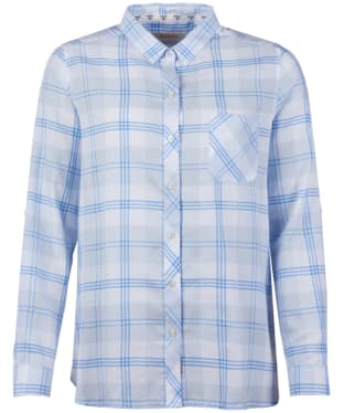 Women's Barbour Foreland Shirt - Pale Blue Check