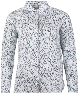 Women's Barbour Hustanton Printed Shirt - Off White Print