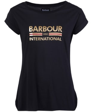 Women's Barbour International San Carlos Tee - Black