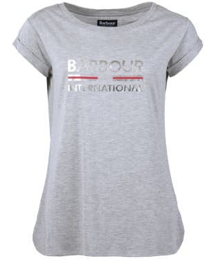 Women's Barbour International San Carlos Tee - Light Grey Marl