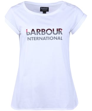 Women's Barbour International Bremgarten Tee - White