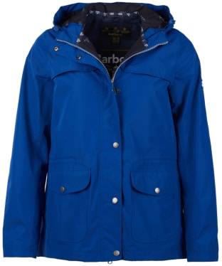 Women's Barbour Lunan Waterproof Jacket - Sea Blue