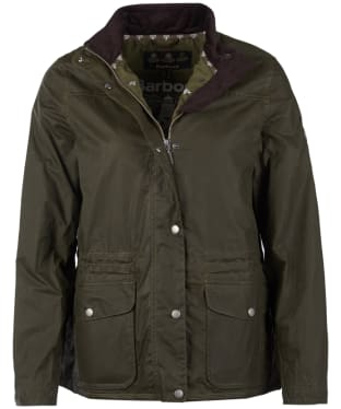 Women's Barbour Dover Lightweight Wax Jacket - Archive Olive