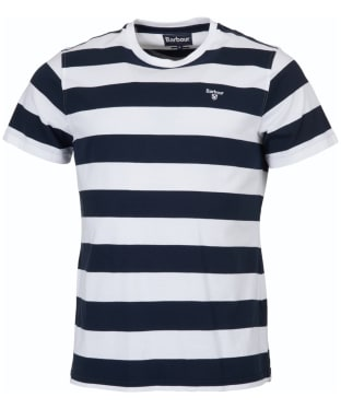 Men's Barbour Bass Stripe Tee - White