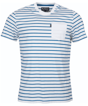 Men's Barbour Tow Stripe Tee - White