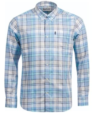 Men's Barbour Tailored Fit Bream Shirt - Aqua Check