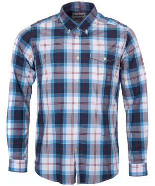 Men's Barbour Tailored Fit Cabin Shirt - Mid Blue Check