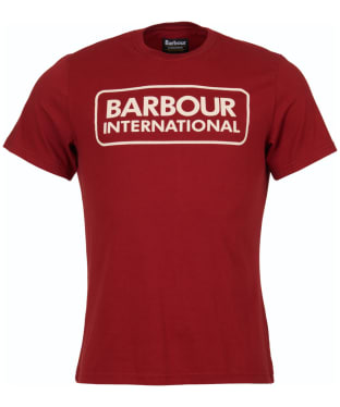 Men's Barbour International Essential Large Logo Tee - Lobster Red