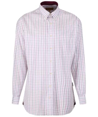 Men's Schoffel Banbury Shirt - Pink / Grey Check
