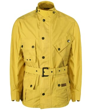 Men's Barbour International Washed Geelong Casual Jacket - Yellow