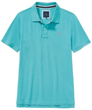 Men's Crew Clothing Classic Pique Polo Shirt - Azure Blue