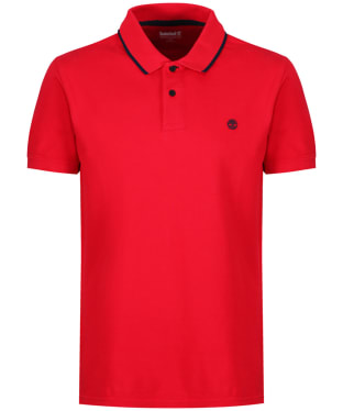 Men's Timberland Millers River Pique Polo Shirt - Tango Red