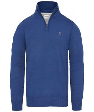 Men's Timberland Williams River Half Zip Sweater - Twilight Blue