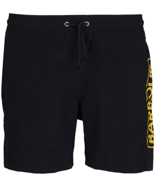 Men's Barbour International Large Logo Swim Shorts - Black