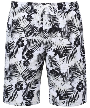 Men's Timberland Sunapee Lake Patterned Swim Shorts - Black Tropical
