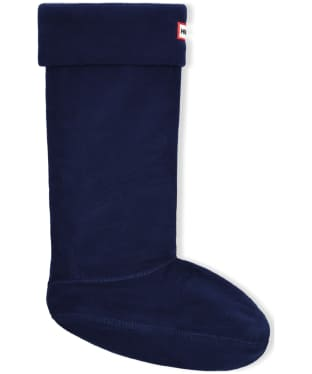 Hunter Fleece Welly Socks Adult - Navy