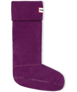 Hunter Fleece Welly Socks Adult - Violet