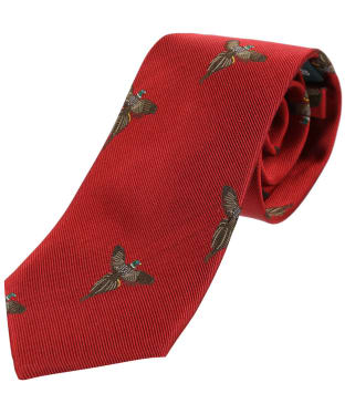 Men's Soprano Flying Pheasant Print Tie - Red