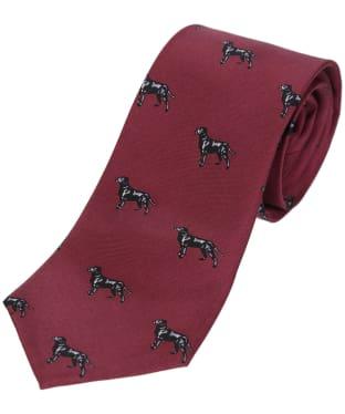 Men's Soprano Labradors Tie - Wine