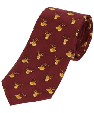 Men's Soprano Stags Heads Tie - Wine