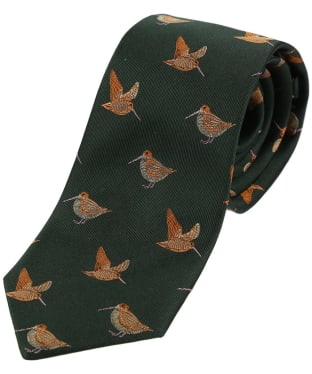 Men's Soprano Woodcocks Country Silk Tie - Country Green