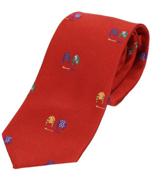 Men's Soprano Jockey Country Silk Tie - Red