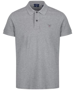 Men's GANT the Original Pique Rugger Polo Shirt - Grey Melange