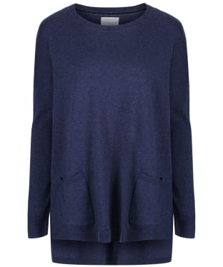 Women's Schoffel Cotton/Cashmere Crew Neck Sweater - Indigo
