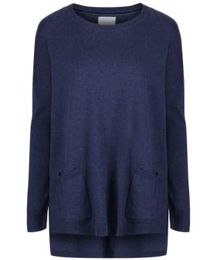 Women's Schoffel Cotton/Cashmere Crew Neck Sweater - Indigo