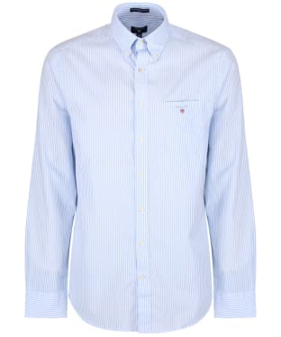 Men's GANT Regular Broadcloth Banker Shirt - Capri Blue